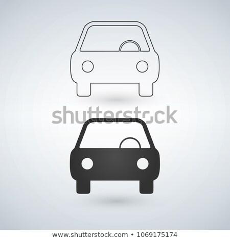 Araba ikon görmek doğrusal versiyon Stok fotoğraf © kyryloff