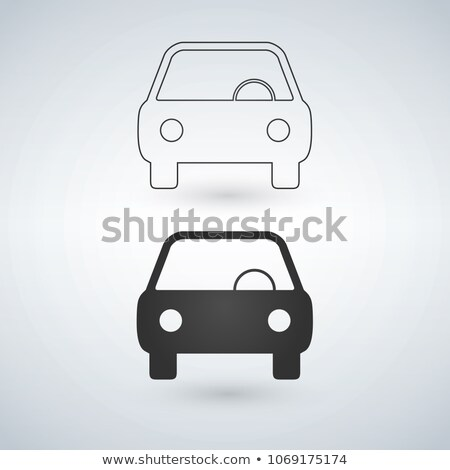 auto · icon · lineair · versie - stockfoto © kyryloff