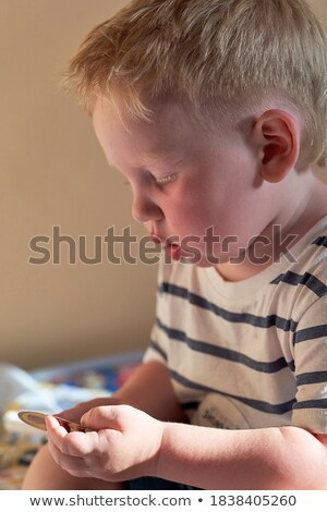Close up of child profile with red hair  Stock photo © dashapetrenko