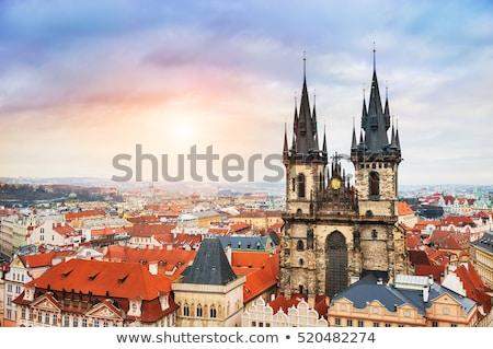 kathedraal · Tsjechische · Republiek · hoofd- · vierkante · hemel · bouw - stockfoto © givaga