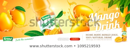 mangue · jus · publicité · bannière · vecteur - photo stock © SaqibStudio