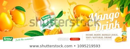 マンゴー ジュース 広告 バナー 広告 ベクトル ストックフォト © SaqibStudio