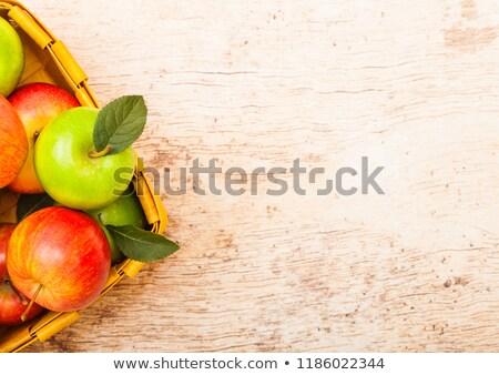 koninklijk · gala · appels · drie · kunstgras · witte - stockfoto © denismart