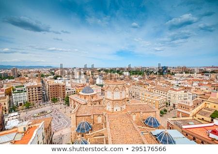 Légi panoráma Valencia közösség Spanyolország égbolt Stock fotó © benkrut