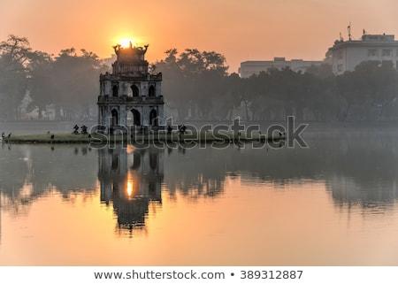 Turtle Tower on Hoan Kiem Lake in Hanoi, Vietnam Stock photo © boggy