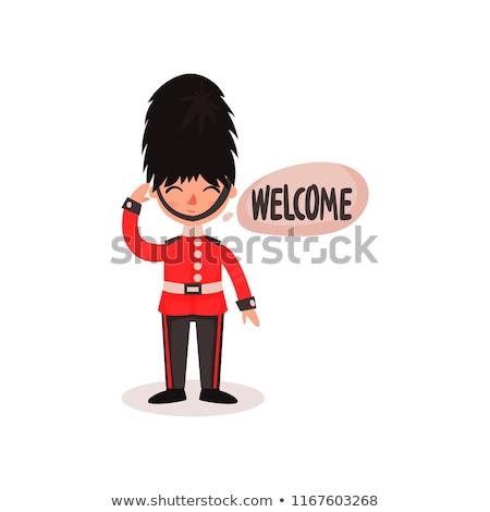 британский королевский солдата характер опекун Букингемский дворец Сток-фото © jossdiim