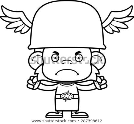 Cartoon Angry Hermes Monkey Stock photo © cthoman