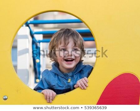 Fiúk játszik játszótér illusztráció kéz boldog Stock fotó © bluering