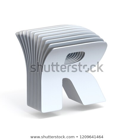 Curved paper sheets Letter R 3D Stock photo © djmilic