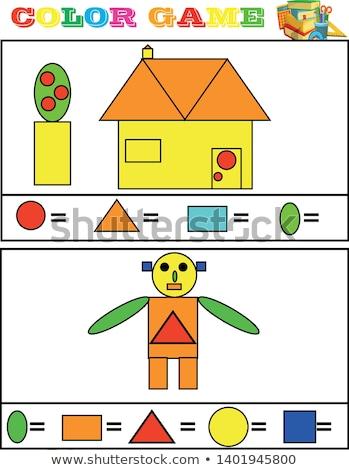 sok · formák · oktatási · játék · rajz · illusztráció - stock fotó © olena