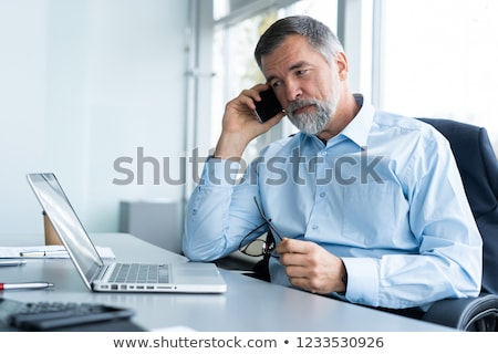 Senior empresário comprimido negócio tecnologia fundo Foto stock © Minervastock