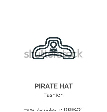 pirate icons vector accessories hat sword isolated flat cartoon illustration stock photo © pikepicture
