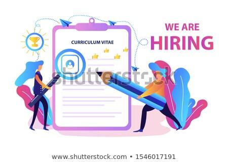 Job interview header or footer banner. Stock photo © RAStudio
