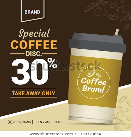 Take away coffee concept banner header. Stock photo © RAStudio