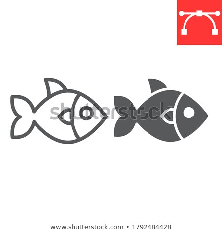 christian fish symbol on app button vector illustration stock photo © kyryloff