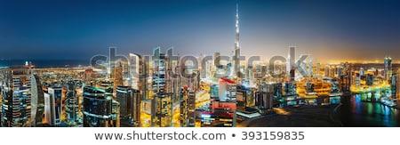 Illuminated Dubai Skyline At Night Stock photo © AndreyPopov