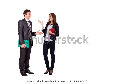 Full length portrait of a cheerful smartly dressed couple Stock photo © deandrobot