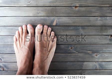 Masculino pé estância termal peludo pé tigela Foto stock © simply