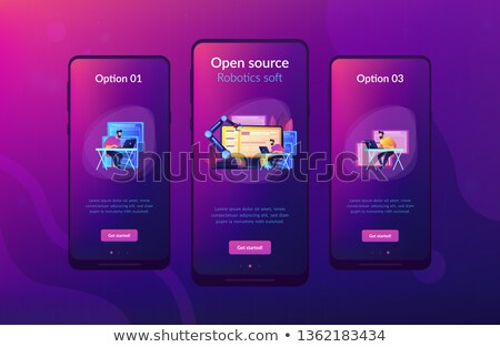Ouvrir automatisation architecture app interface modèle Photo stock © RAStudio