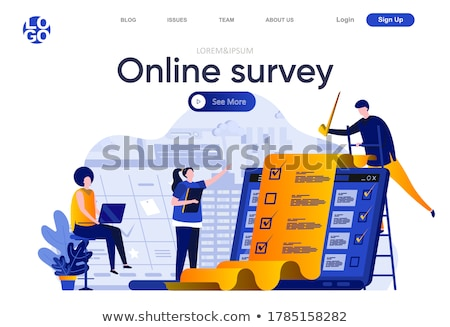 Online survey concept banner header. Stock photo © RAStudio