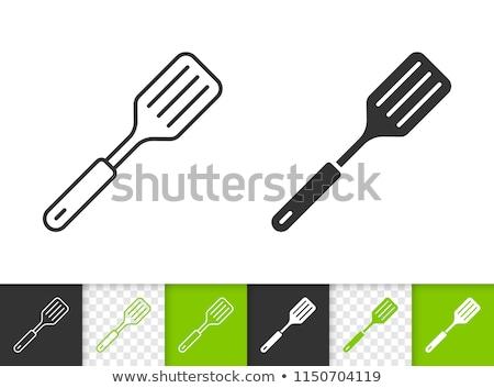 vektor · ikon · kellékek · szett · konyhai · eszköz · ikonok - stock fotó © robuart