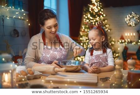 Сток-фото: Рождества · праздник · подготовка · дерево · украшение · семьи