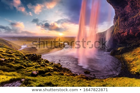 Seljalandsfoss - beautiful waterfall in Iceland Stock photo © Kotenko