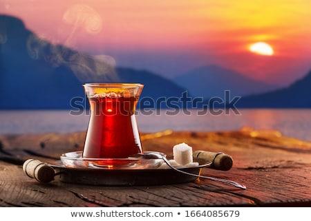 Török tea tenger hagyományos tengerpart mediterrán Stock fotó © Givaga