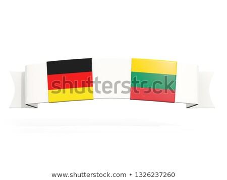 баннер два квадратный флагами Германия Литва Сток-фото © MikhailMishchenko