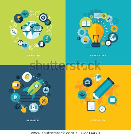 science flat concept icons stock photo © netkov1