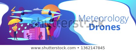 Meteorology drones concept banner header. Stock photo © RAStudio