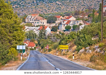 Scenic road of Brac island and Bobovisce village view stock photo © xbrchx