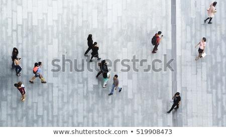 homem · guarda-chuva · acima · cidade · homem · de · negócios · segurança - foto stock © 5xinc