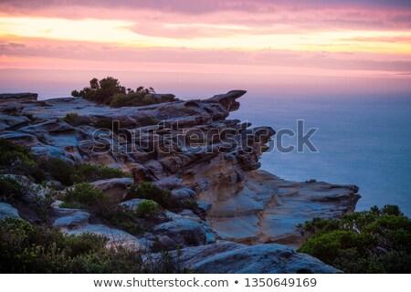 Hajnal szirt part királyi park sziklák Stock fotó © lovleah