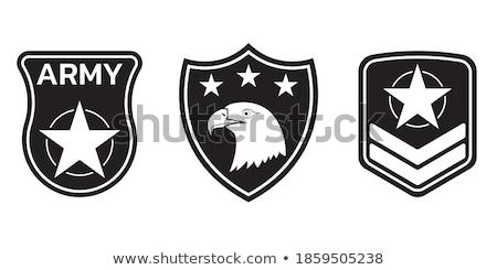 Color vintage parachuting emblem Stock photo © netkov1