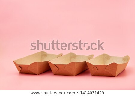 Eco friendly fast food containers Foto stock © furmanphoto