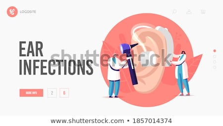 Deaf Senior Man And Woman Vector Cartoon Characters Foto stock © pikepicture