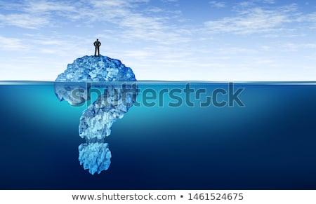 Işadamı sorun buzdağı kâğıt çalışmak deniz Stok fotoğraf © Elnur