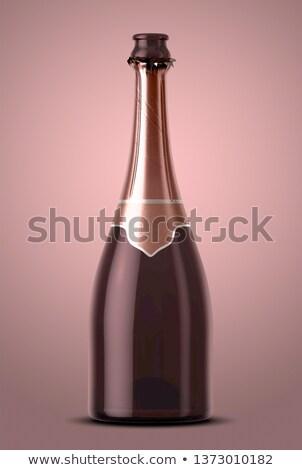 Pink Champagne Bottle Open Neck Stock photo © albund