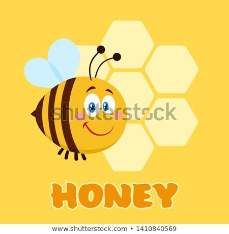 Stock fotó: Boldog · méh · rajzfilmfigura · repülés · szöveg · tavasz