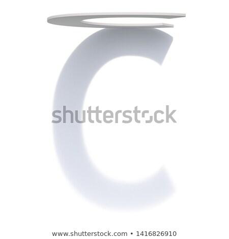 Dikey damla gölge c harfi 3D Stok fotoğraf © djmilic