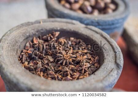 ánizs edény egyéb fűszer természet minta Stock fotó © galitskaya