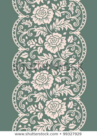 Sin costura encaje vector patrón blanco retro Foto stock © RedKoala