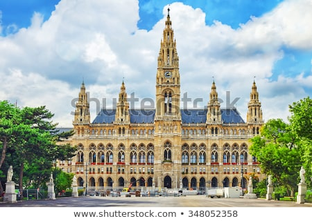 ратуша Вена Австрия украшенный Рождества праздник Сток-фото © borisb17