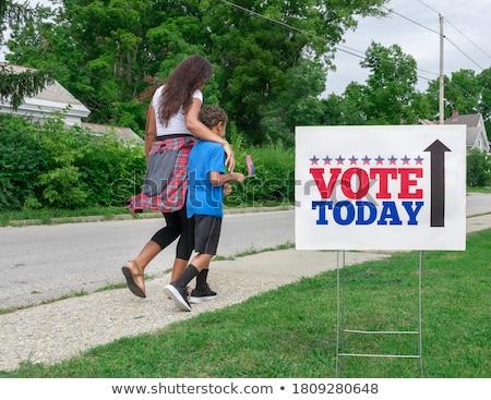 Estados Unidos votar votação lugar eleitor americano Foto stock © Lightsource