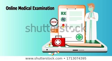 Direct diagnose medische toepassing live tablet Stockfoto © ra2studio