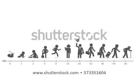 Ciclo de vida nacimiento vejez personas diferente edad Foto stock © Winner