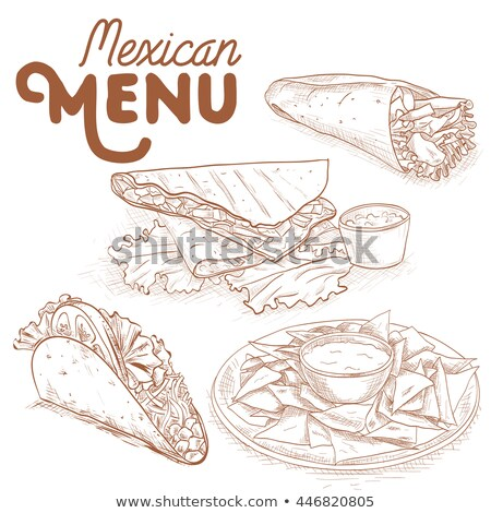 Scetch of mexican food Stock photo © netkov1