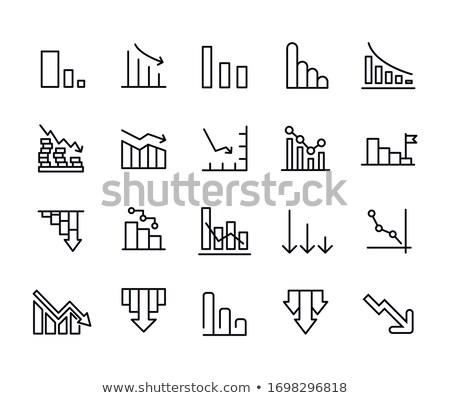Simbolo del dollaro finanziaria grafico line grafico mercato azionario Foto d'archivio © kyryloff