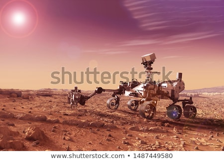 Curiosity rover exploring the surface of Mars. Stock photo © NASA_images